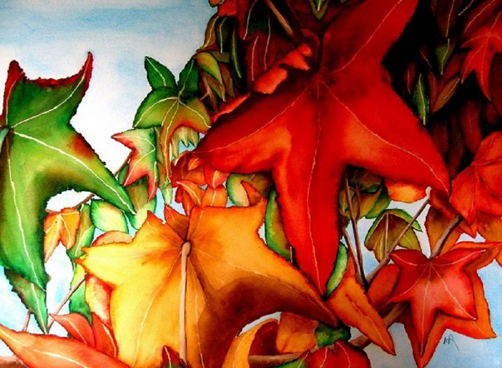 Autumn Leaves 1 - Nancy Riedell Fine Arts