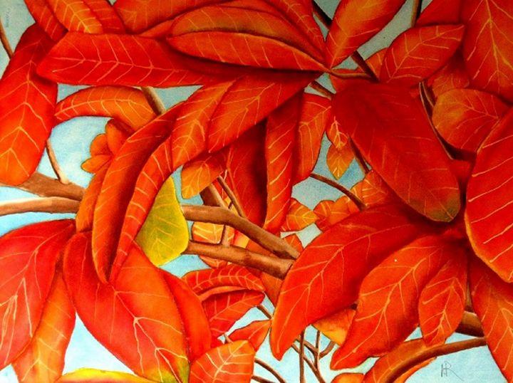 Autumn Leaves 2 - Nancy Riedell Fine Arts