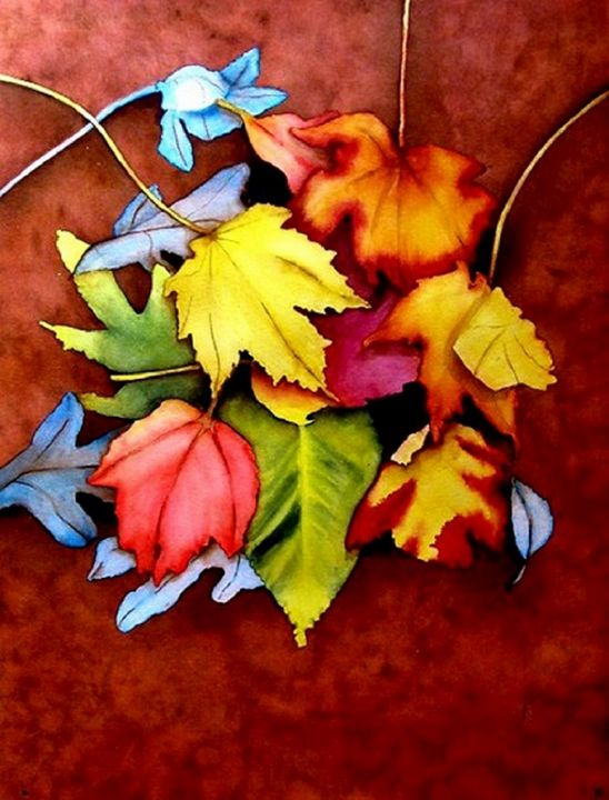 Autumn Leaves 5 - Nancy Riedell Fine Arts