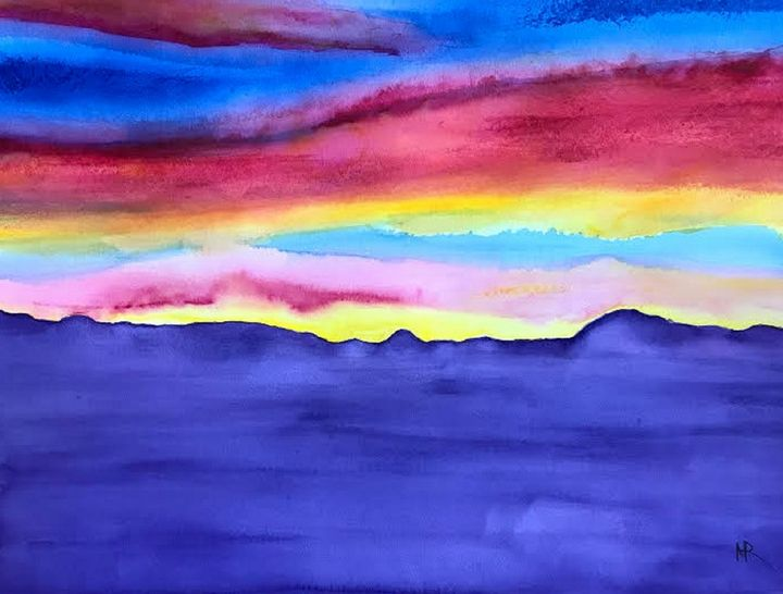 Round Mountain Sunrise - Nancy Riedell Fine Arts
