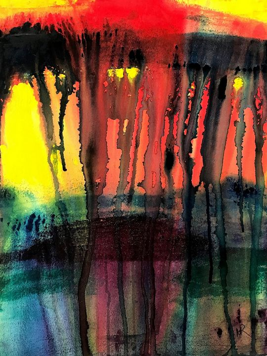Red Rage Spilling Over - Nancy Riedell Fine Arts