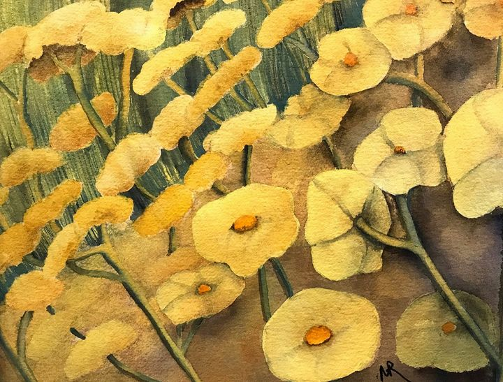 Yellow Flowers - Nancy Riedell Fine Arts