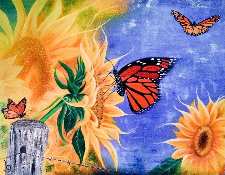 Sunshine, Freedom & a Little Flower - Lynne G Fine Art