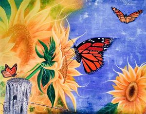Sunshine, Freedom & a Little Flower - Lynne G Fine Art