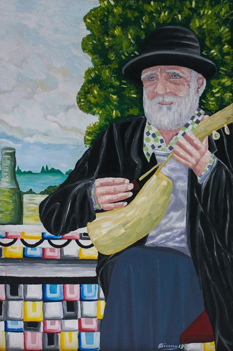 "Sing'n Davey Crocket 24""x30"" - Art by Ginny Rossin"