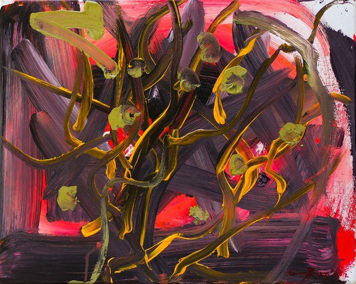 "Crimson 16""x20"" - Art by Ginny Rossin"