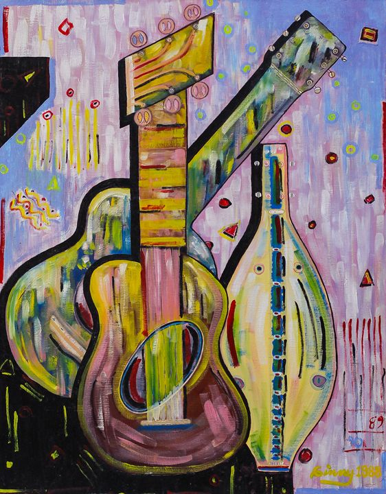 "Strings 22""x28"" - Art by Ginny Rossin"