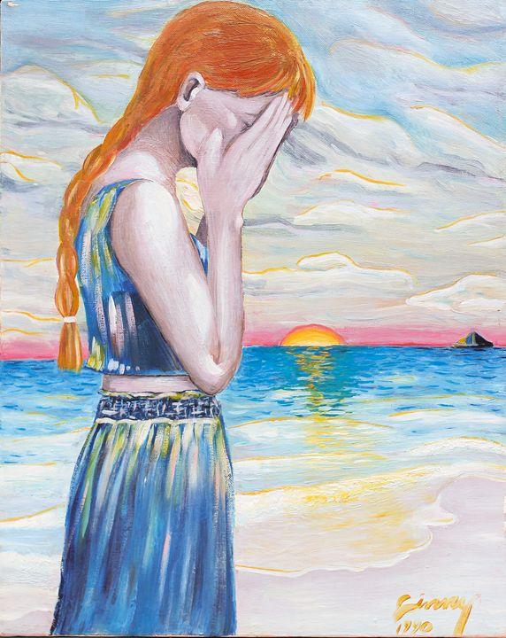 """Portrait of Mattie Morfosa 16""""x20"""" - Art by Ginny Rossin"""