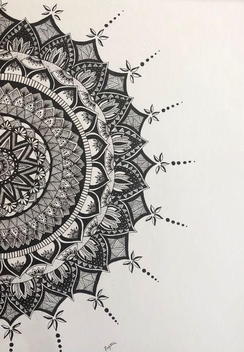 Mandala art work - Drawing freak forever