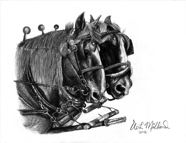 Draft Horse Team - Millard Saddle Repair & Art