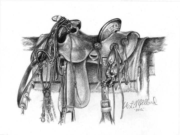 Hamley Saddle - Millard Saddle Repair & Art - Paintings & Prints