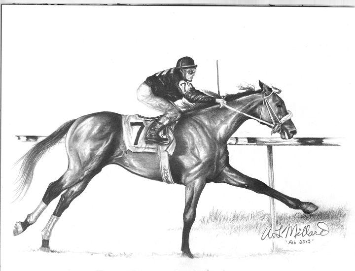 Race Horse - Millard Saddle Repair & Art