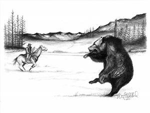 Ropin A Bear