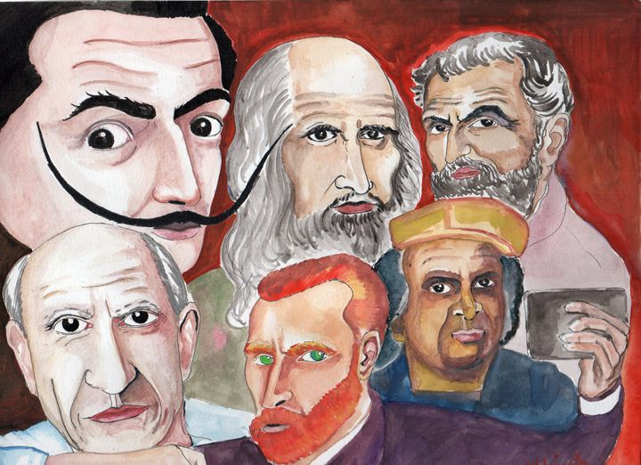 ARTISTS SELFIE - NITHISH ARTS