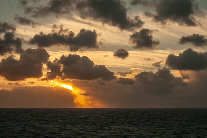Warm Golden Sunrise at Sea - Dan Vowles Photography