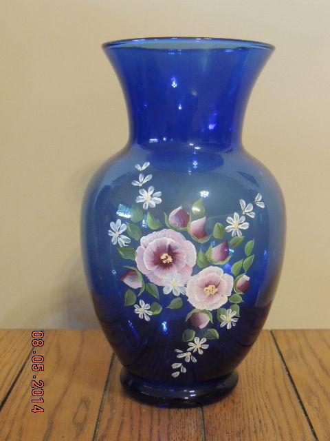 Blue Floral Vase - Linda's Creations