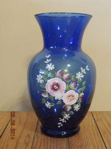Blue Floral Vase