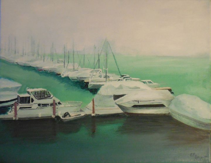 Boston Harbor in Winter - C.E. Heywood Fine Arts