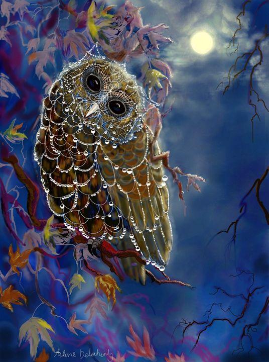 Web Wardrobe For Owl Parties - Arlene Delahenty Art