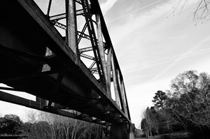Blackshear, GA Bridge Blk and White