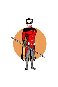Tim Drake as Robin