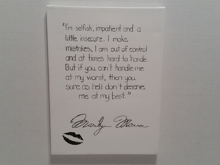 Marilyn Monroe Quote - Pure Simplicity