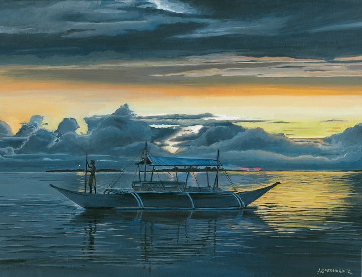 Calming Moment of a Sunset - Paints and Sketches of Andrew Fernandez