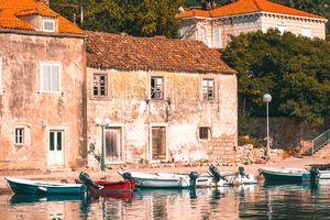 Stone Houses & Fishing Boats