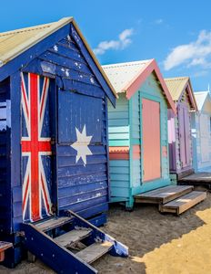 Beach Bathing Boxes in Melborne