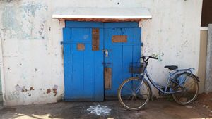 Blue Door and Blue Bike