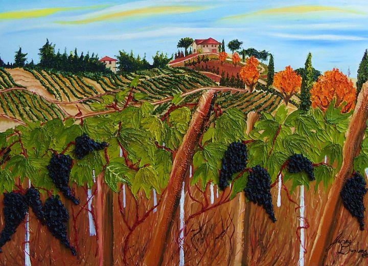 Tuscany Italy Wine Vineyard - Dunbar's Modern Art