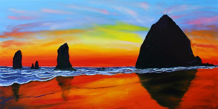 Cannon Beach At Sunset #32 - Dunbar's Modern Art