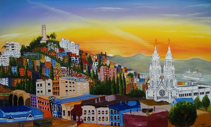 San Francisco City Lights #1 - Dunbar's Modern Art