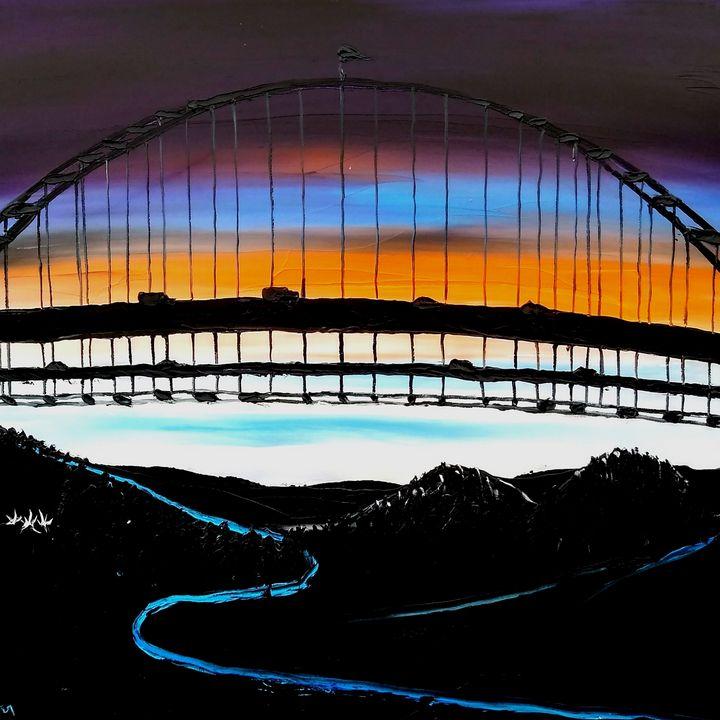 Abstract World Of Fremont bridge - Dunbar's Modern Art