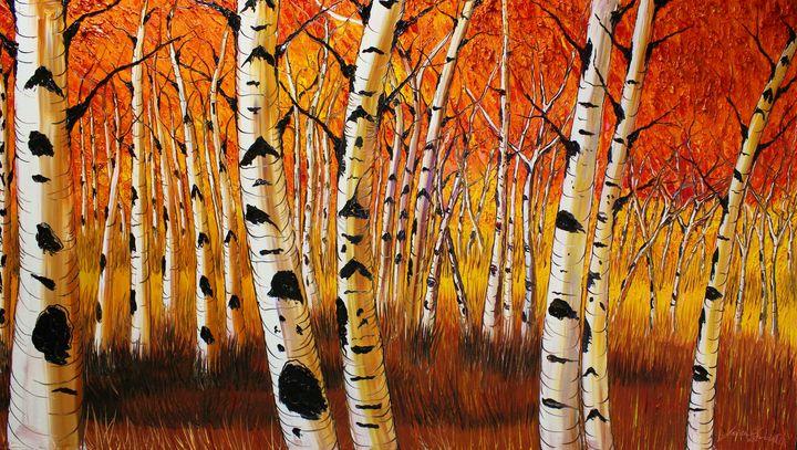 Autumn Field Of Birch Tree's #3 - Dunbar's Modern Art