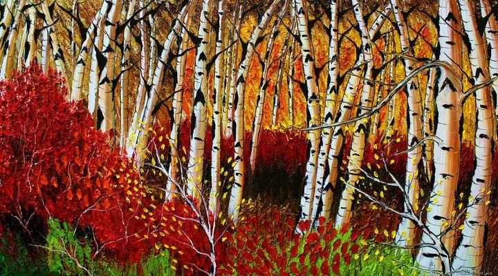 Autumn Field Of Birch Tree's #4 - Dunbar's Modern Art