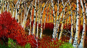 Autumn Field Of Birch Tree's #4