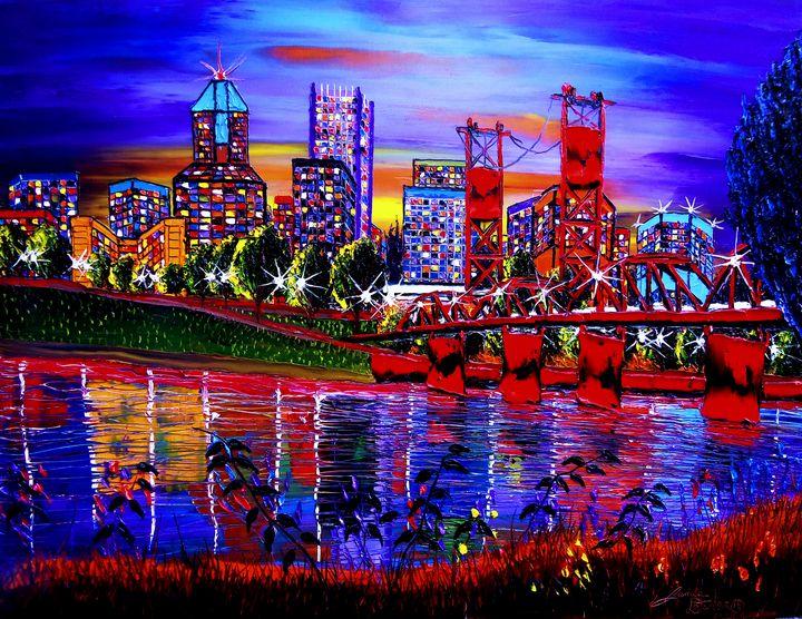 Portland City Lights #60 - Dunbar's Modern Art