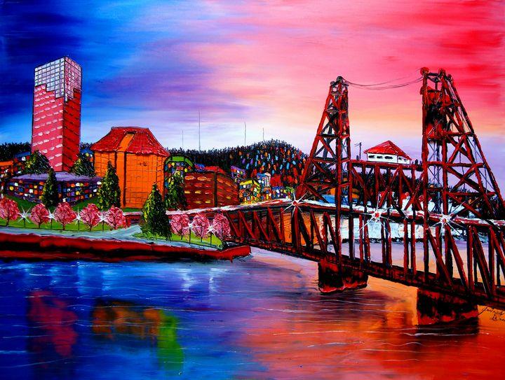 Portland City Lights #48 - Dunbar's Modern Art