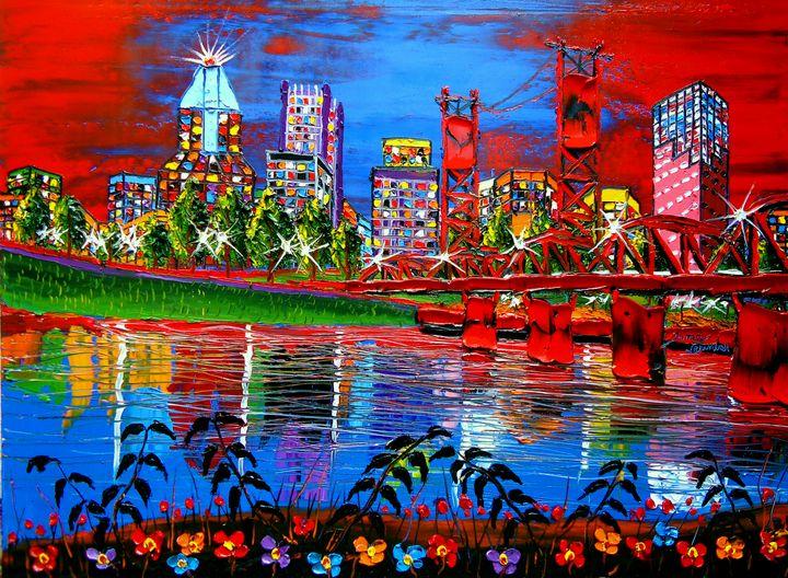 Portland City Lights #64 - Dunbar's Modern Art
