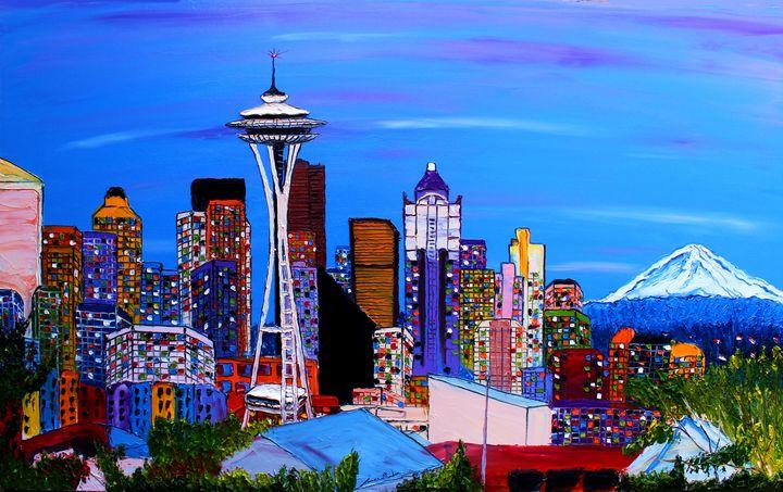 Seattle City Lights #6 - Dunbar's Modern Art