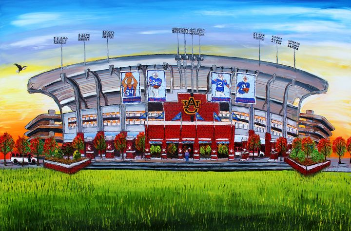Auburn University Stadium #1 - Dunbar's Modern Art