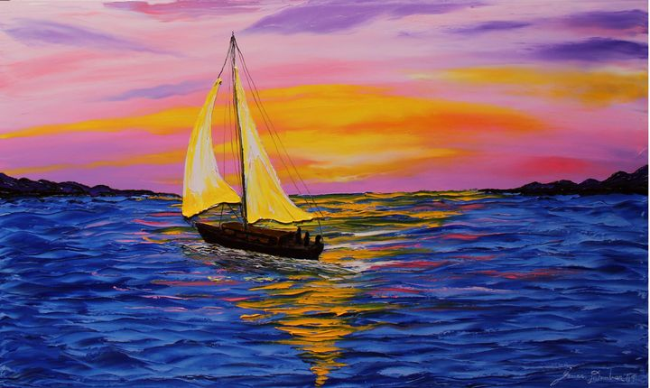 Florida Keys Sunset Sails #2 - Dunbar's Modern Art
