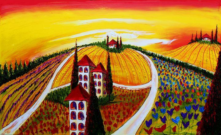Yellow Sky's Of Tuscany #1 - Dunbar's Modern Art