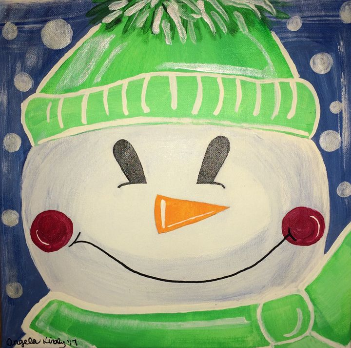 Snow man - Angie's Art