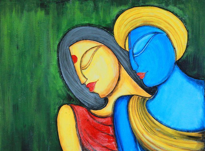 Romantic-krishna radha - Agals Atelier
