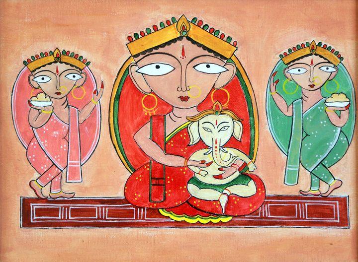 Ganesha & Parvati - Agals Atelier