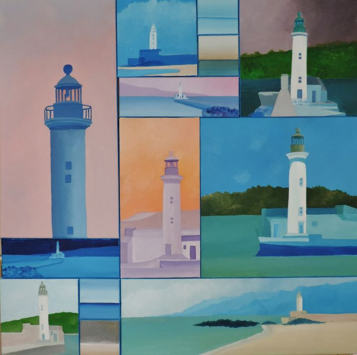 The Propriano lighthouse 2013. - ROUSSEAU  Jean daniel
