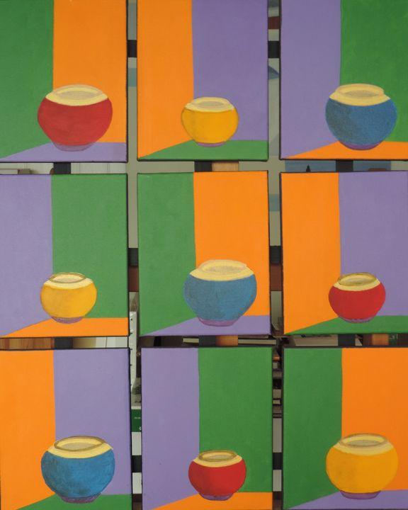 Complémentarités shapes and colors - ROUSSEAU  Jean daniel