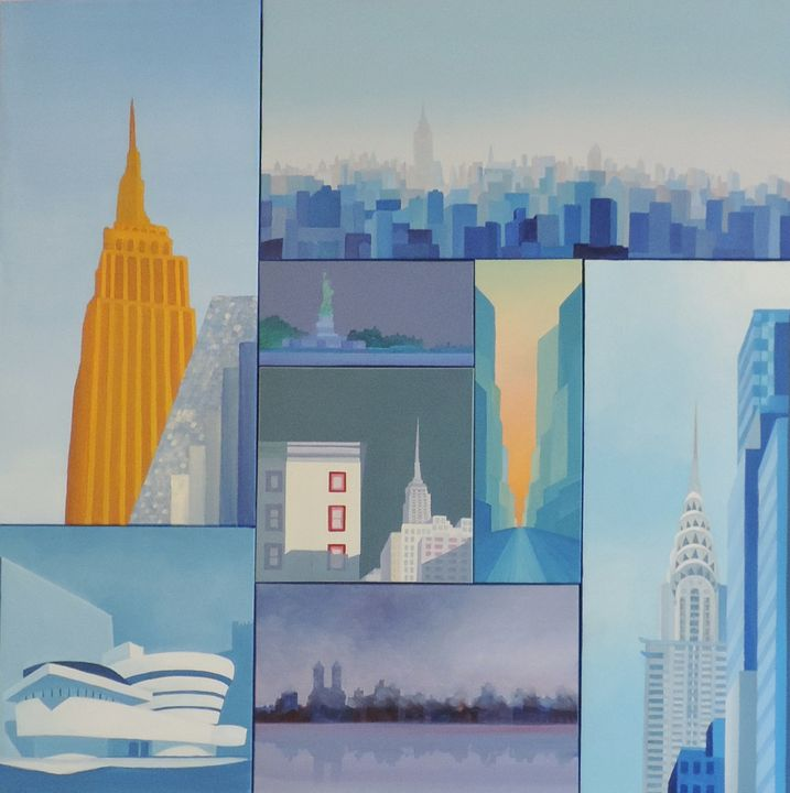 Great New York composition. - ROUSSEAU  Jean daniel